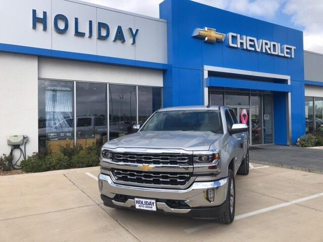 new Silver Ice Metallic 2018 Chevrolet Silverado 1500 LTZ with Jet Black Interior located in Ardmore
